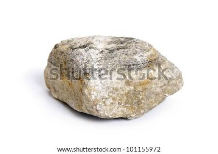Granite stone isolated on white background - stock photo