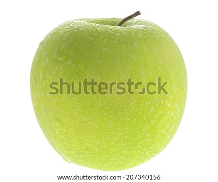 Granny Smith Apple and Clipping Path - stock photo