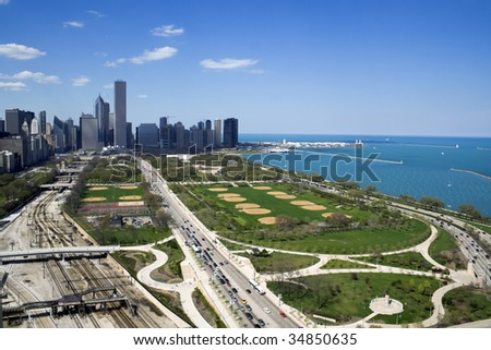 Grant Park in Chicago, IL. - stock photo