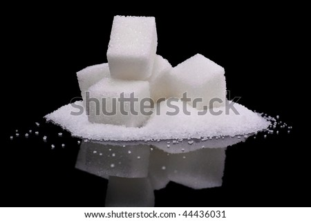 granulated and sugar cubes