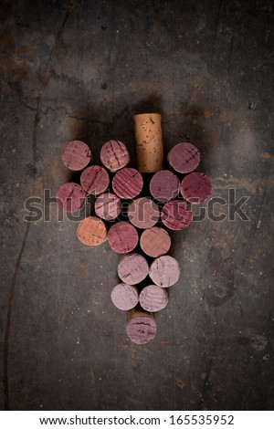 Grape corks - stock photo