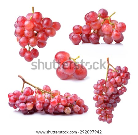 grape isolated on white background - stock photo