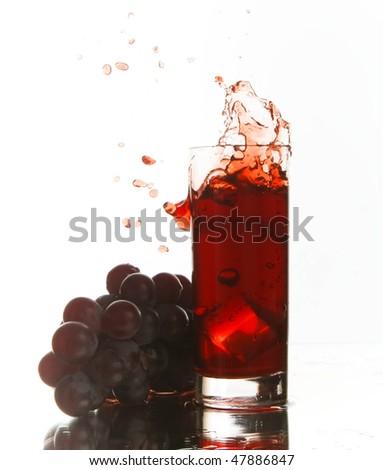 grape juice splash - stock photo
