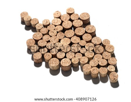 grape made with cork caps - stock photo