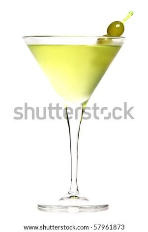 grape martini isolated white background - stock photo