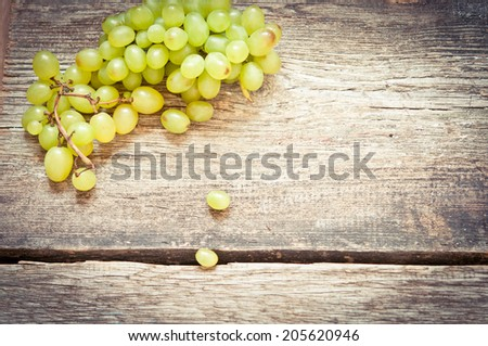 Grape on a wooden table