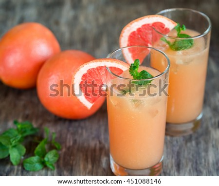 Grapefruit and Tequila Paloma Cocktail - stock photo