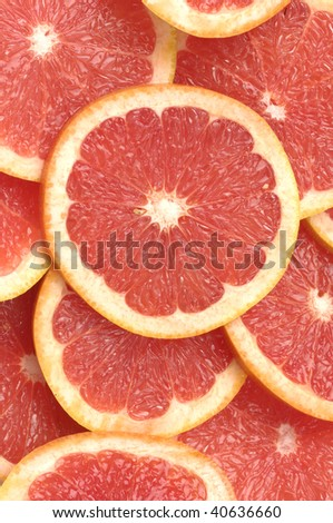 grapefruit cut background