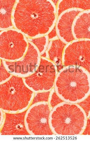 Grapefruit Slice Abstract Seamless Pattern - stock photo