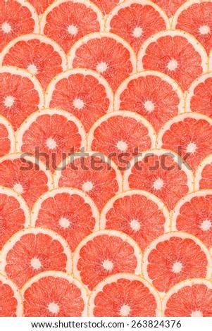 Grapefruit Slice Abstract Seamless Pattern - stock photo