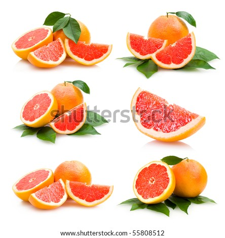 grapefruits collection - stock photo