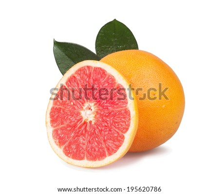 Grapefruits isolated