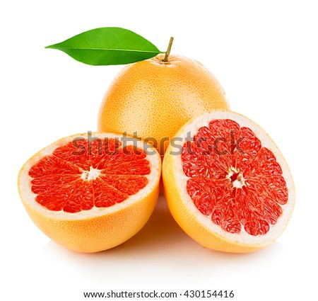 Grapefruits isolated on a white background.