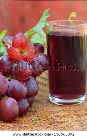 Grapes and grape juice.