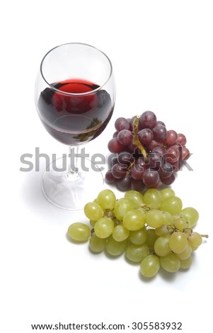 grapes and wine  - stock photo