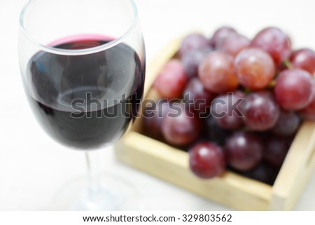 grapes fruit and wine