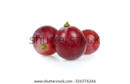 grapes fruit isolated on a white background