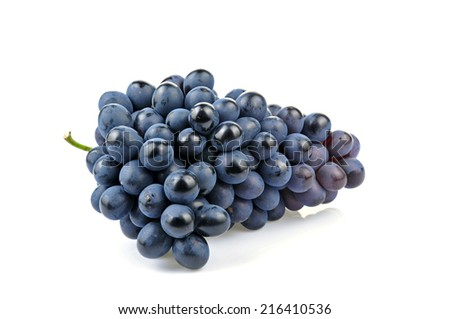 Grapes in white background  - stock photo