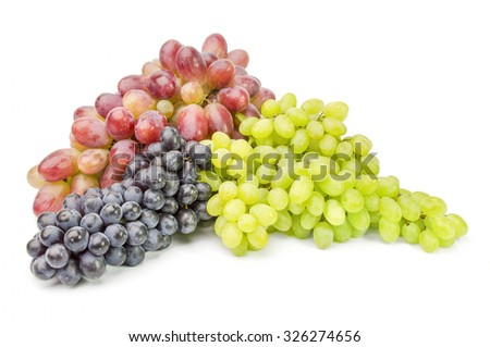 Grapes isolated on a white cutout - stock photo