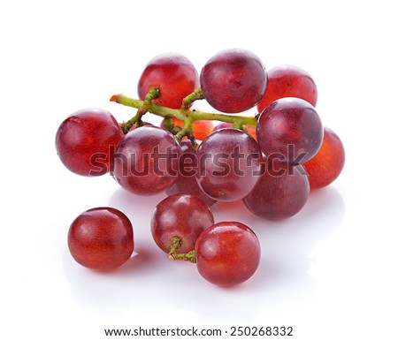 grapes isolated on over white background