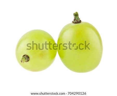 grapes isolated on white background closeup