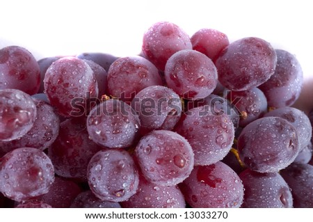Grapes. Isolation on white. fruit