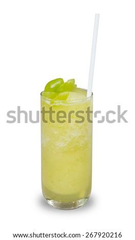 grapes smoothie - stock photo