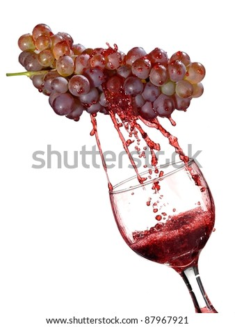 Grapes up from a glass - stock photo