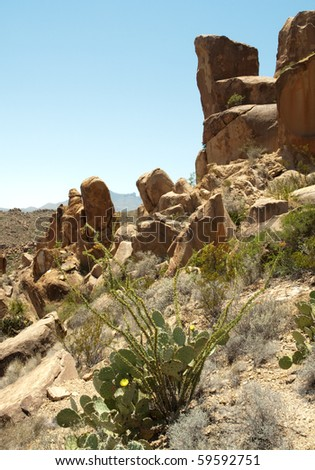 grapevine hills rock formations - stock photo