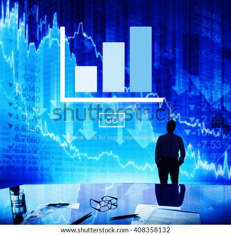 Graph Analysis Statistics Report Concept - stock photo