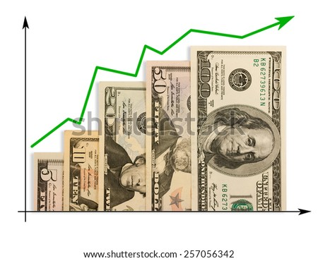 Graph chart profit money - stock photo