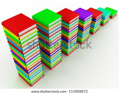 Graph from books - stock photo