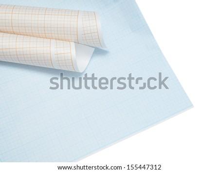 Graph grid paper - stock photo