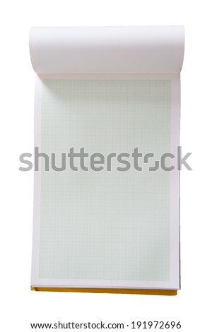 graph paper isolated on white background - stock photo