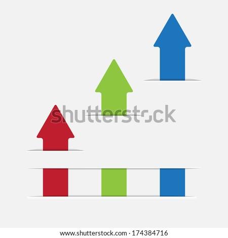 graph up arrow - stock photo