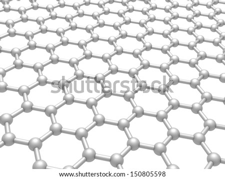 Graphene Layer Structure Schematic Model 3 D Stock Illustration ...