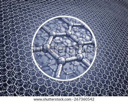 Graphene sheets model , Nanotechnology - stock photo