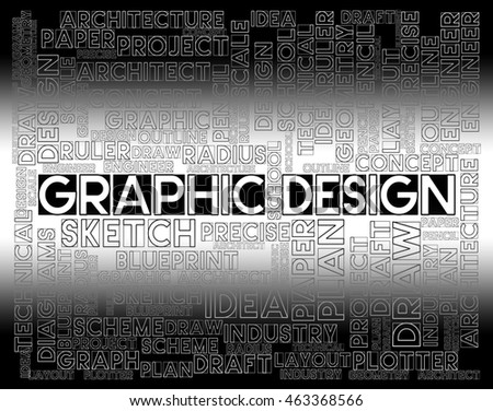 Graphic Design Showing Artwork Concept And Designed