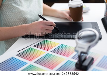 Graphic, designer, pad. - stock photo