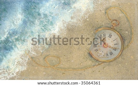 graphic illustration of a watch - stock photo