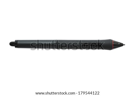 Graphic pen isolated on white background - stock photo