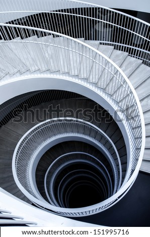 Graphic spiral stairs - stock photo