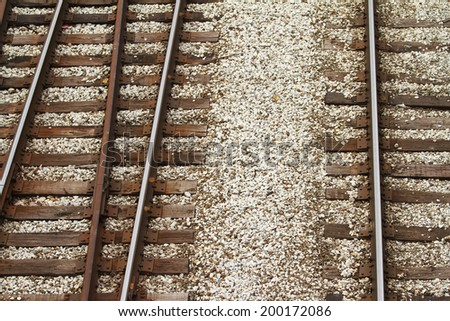 Graphic view of rail road tracks  - stock photo