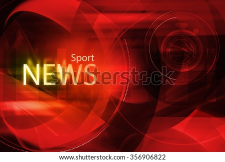 Graphical digital sport news background with news text. - stock photo