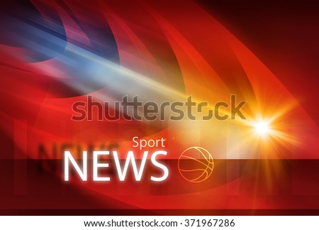 Graphical modern sport news background with news text and lens flare effect . - stock photo