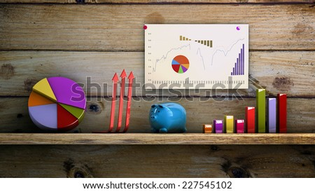 Graphics 3d financial analysis concept - stock photo