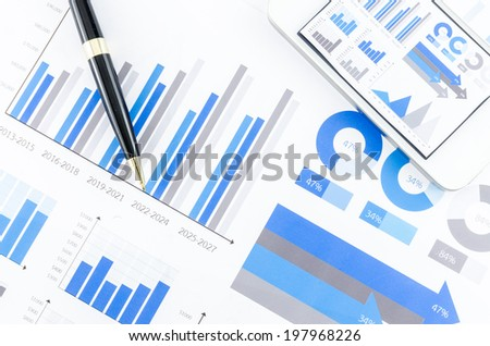Graphs, finance - stock photo