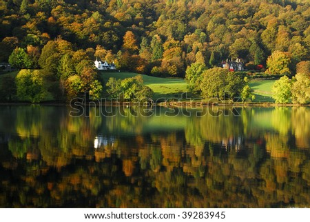 Grasmere reflections - stock photo