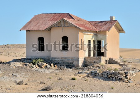 Grasplatz station building near Luderitz, Namibia, dating from the german era