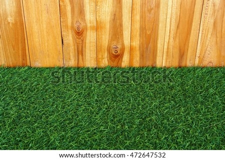 grass and wood wall